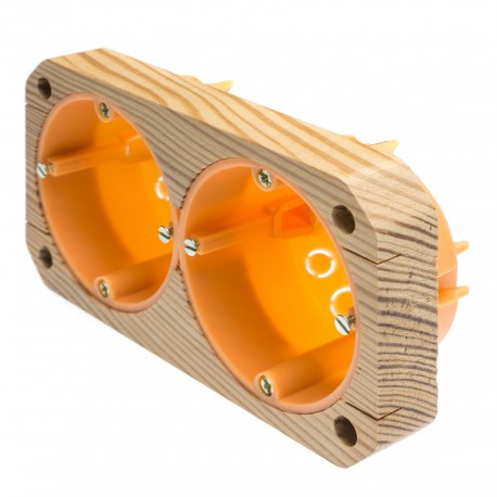 Aufputzgehäuse 2-fach (40 mm)
