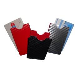 Schutzhüllen aus Aluminium Carbondesign hochkant